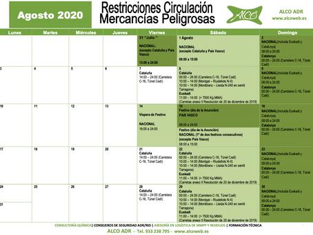 Calendario ADR Agosto