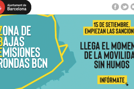 Siguiente paso en la ZBE de Barcelona. Las sanciones por circular por la ZBE sin distintivo.