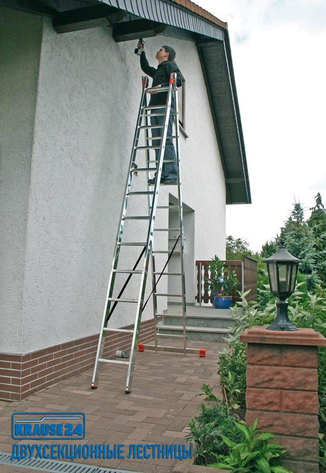 двухсекционная лестница Краузе