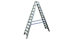 лестница стремянка двухсторонняя krause.