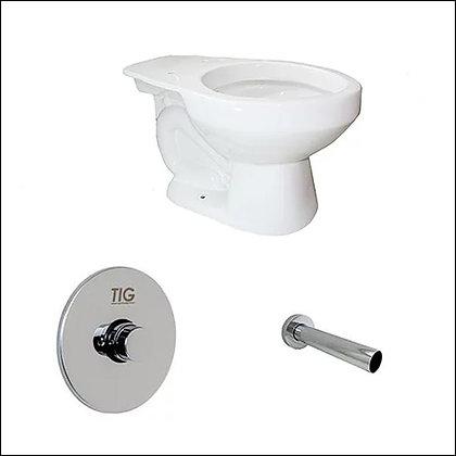 Porcelana sanitaria, grifo de push, tubo