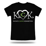 KCK T-SHIRT - LIME GREEN AND WHITE LOGO.