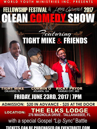 World Youth Ministries Clean Comedy Event