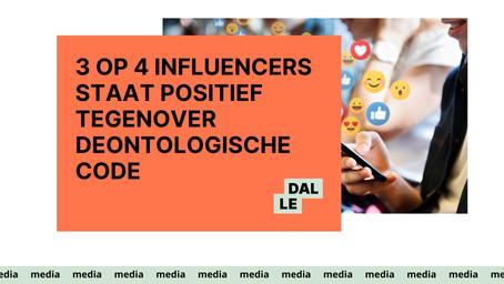 3 op 4 influencers staat positief tegenover deontologische code voor influencers