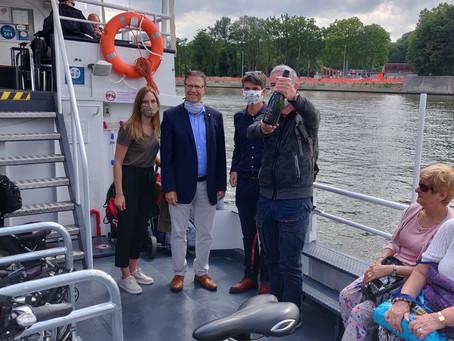Waterbus zorgt voor dagelijkse filevrije verbinding tussen Brussel en Vilvoorde