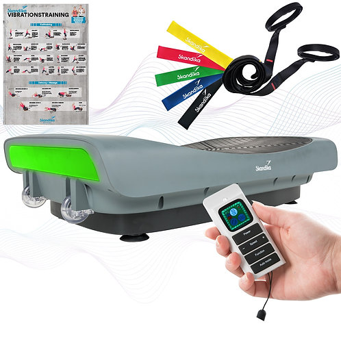 skandika Home Vibration Plate V3000 Vibrationsplatte mit 4D-Vibration, Grau