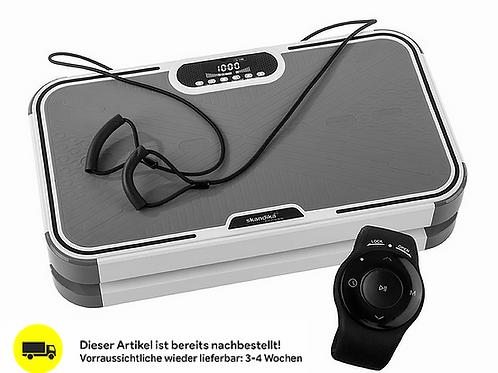 skandika Home Vibration Plate 900 Plus Vibrationsplatte mit 3D-Vibrationen, Rot
