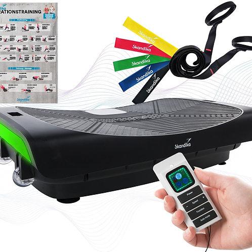 skandika Home Vibration Plate V3000 Vibrationsplatte mit 4D-Vibration, Schwarz