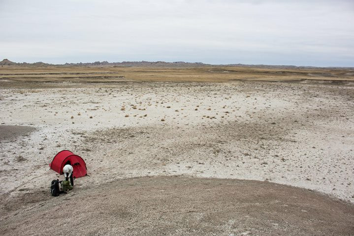 Facebook - Our camp in Tyree Basin of the Badlands