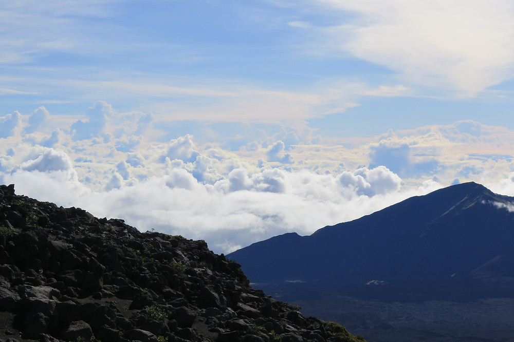 Above the clouds in Haleakalā National Park Crater