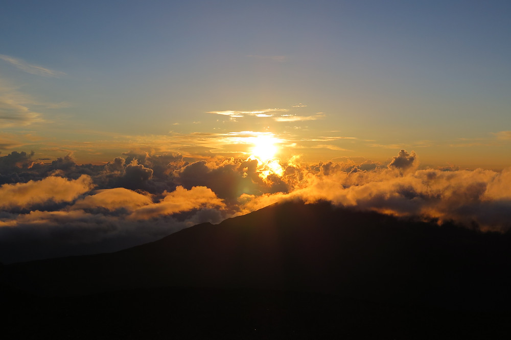 Sunrise at Haleakalā National Park Summit