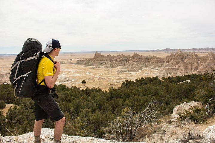 Facebook - Summiting a ridge over Deer Haven in the Badlands with Katie Mummert