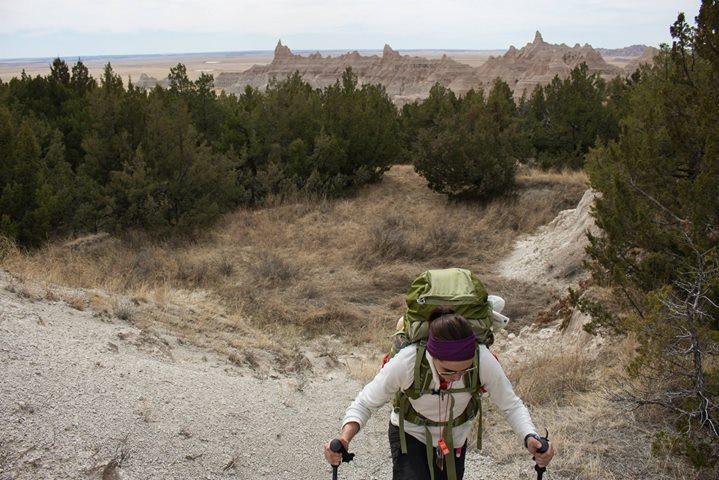 Facebook - Summiting a ridge over Deer Haven in the Badlands