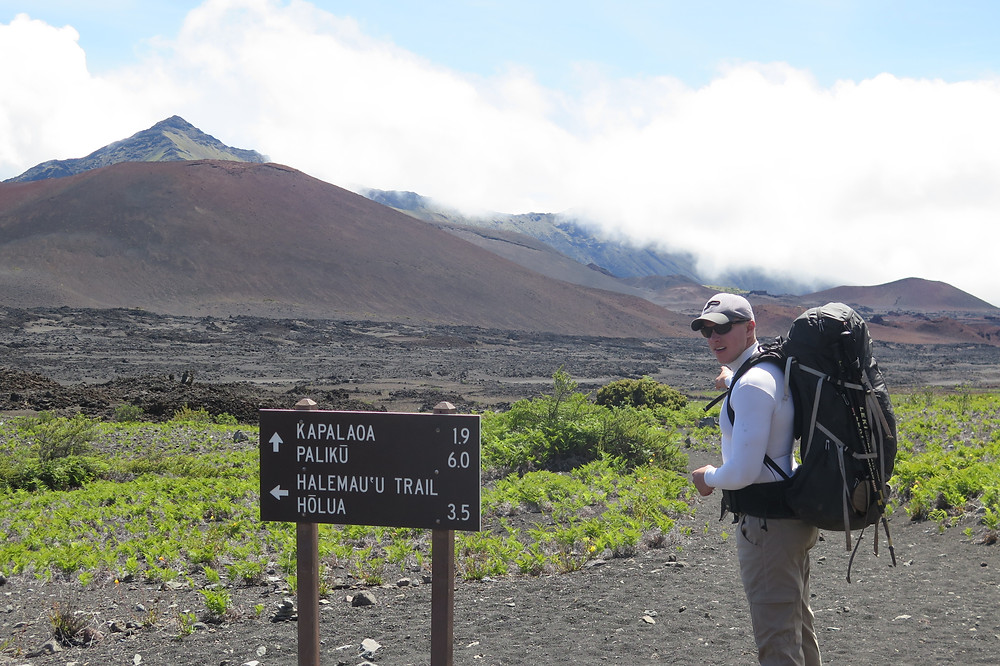 6 miles from camp in Haleakalā National Park Crater