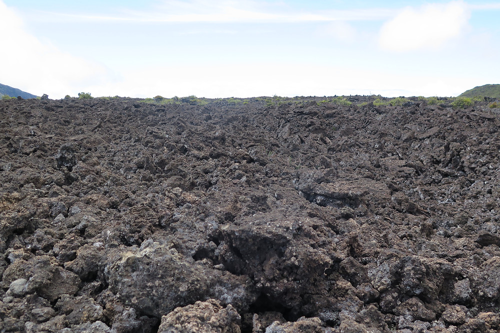 Lava flows from the 1700's in Haleakalā National Park Crater
