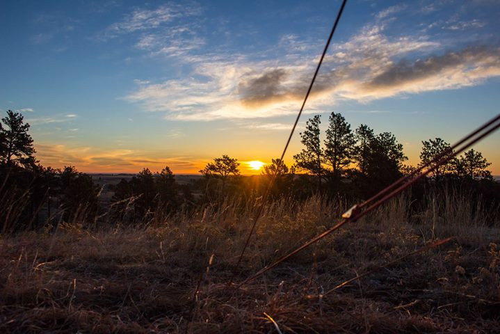 Facebook - Sunrise from our tent at Wind Cave National Park with Katie Mummert