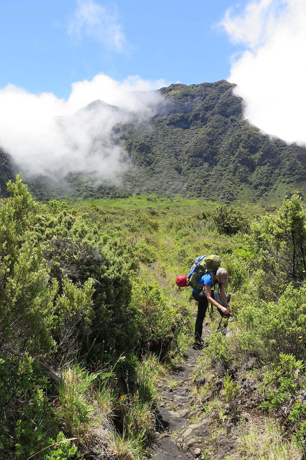 Back on the trail in Haleakalā National Park Crater