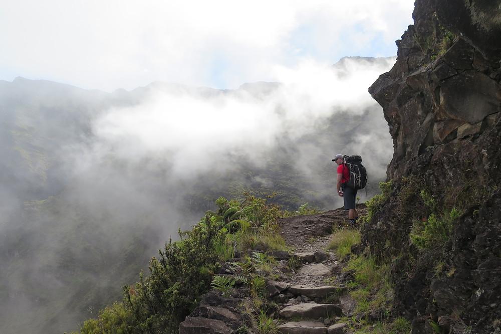Mark hiking back out of Haleakalā National Park Crater
