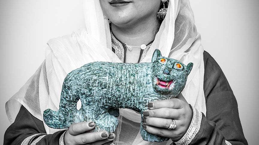 "Naila Rivzi, Pakistan, UN Equator Prize Winner  (44""x29"")"