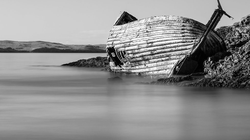 "Ship wreck, Iceland (24""x36"")"