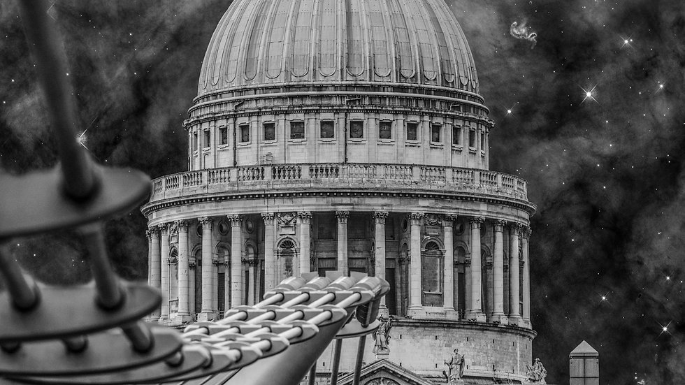 "St. Paul's Cathedral and Millennium Bridge London, SDG City (44""x29"")"