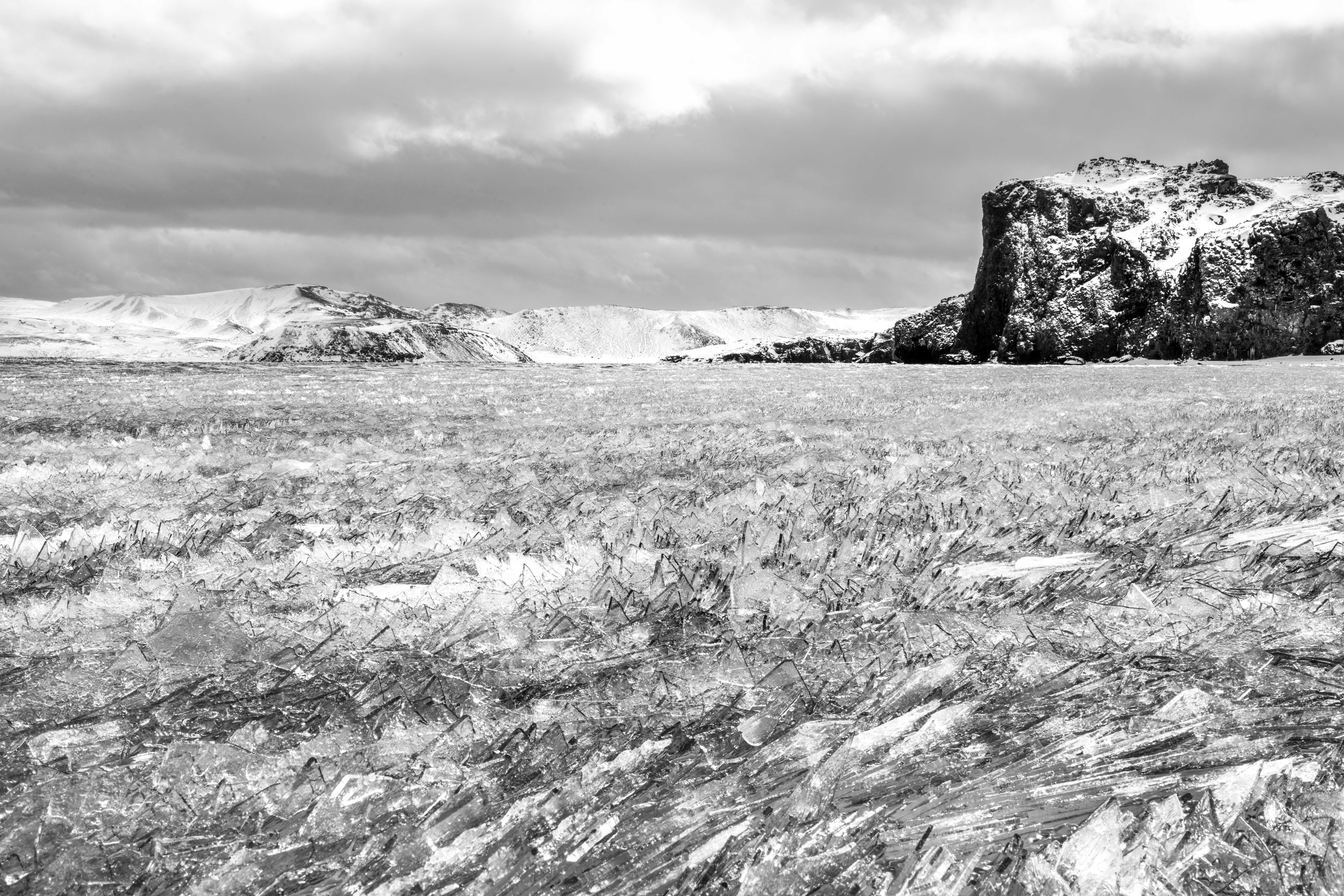 Ice shards on Kleifarvatn