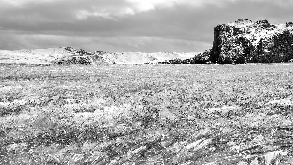 "Ice-shards on Kleifarvatn, Iceland (24""x36"")"
