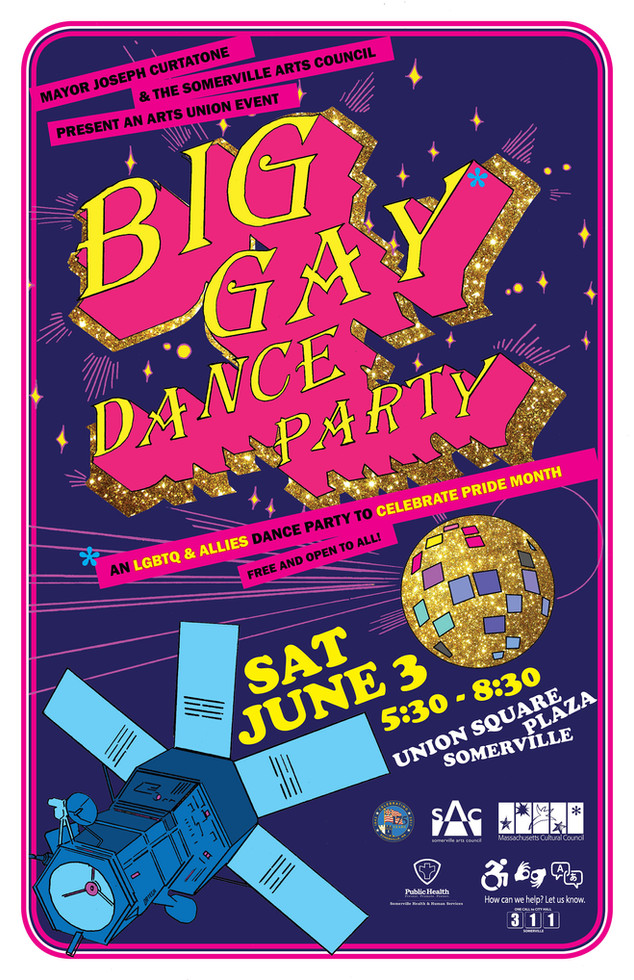 "Poster - ""Big Gay Dance Party"""