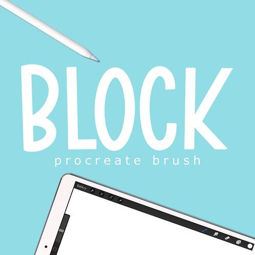 Block - Procreate Brush