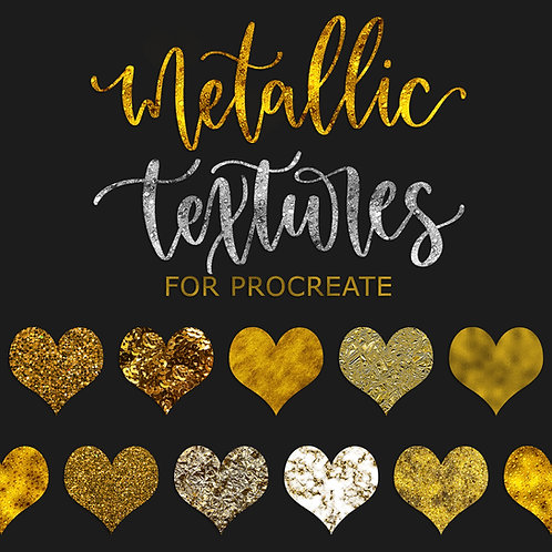 Metallic Textures for Procreate