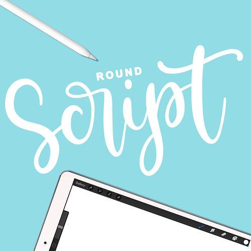 Round Script - Procreate Brush