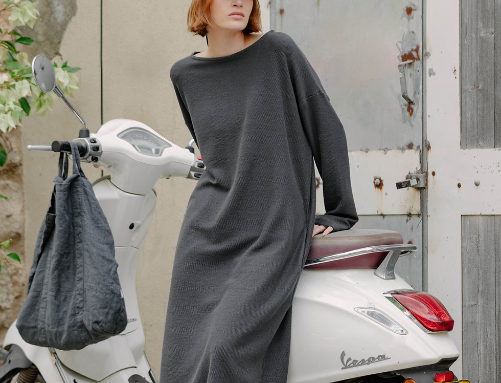 Sara dress - Charcoal gray
