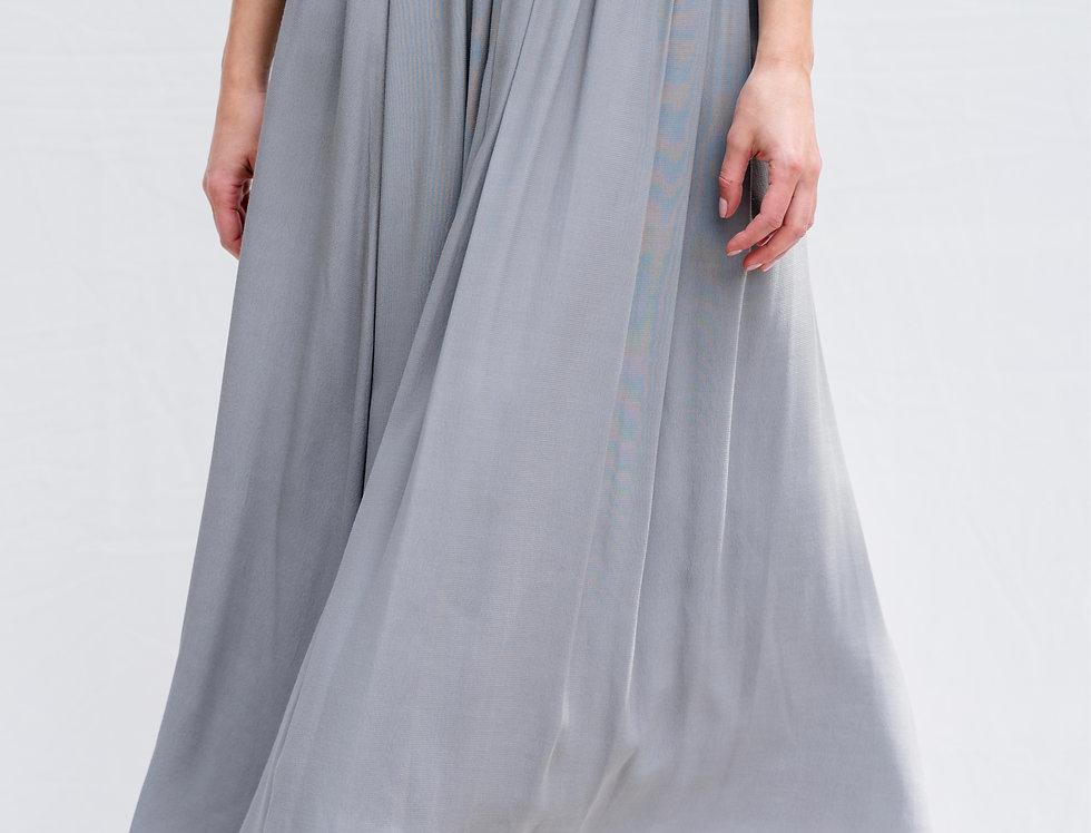חצאית קרפ אפורה