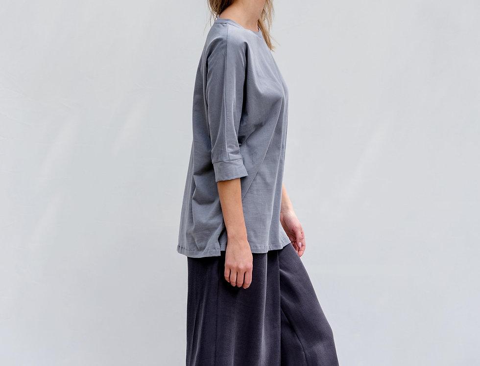 מכנס חצאית מעטפת אפור