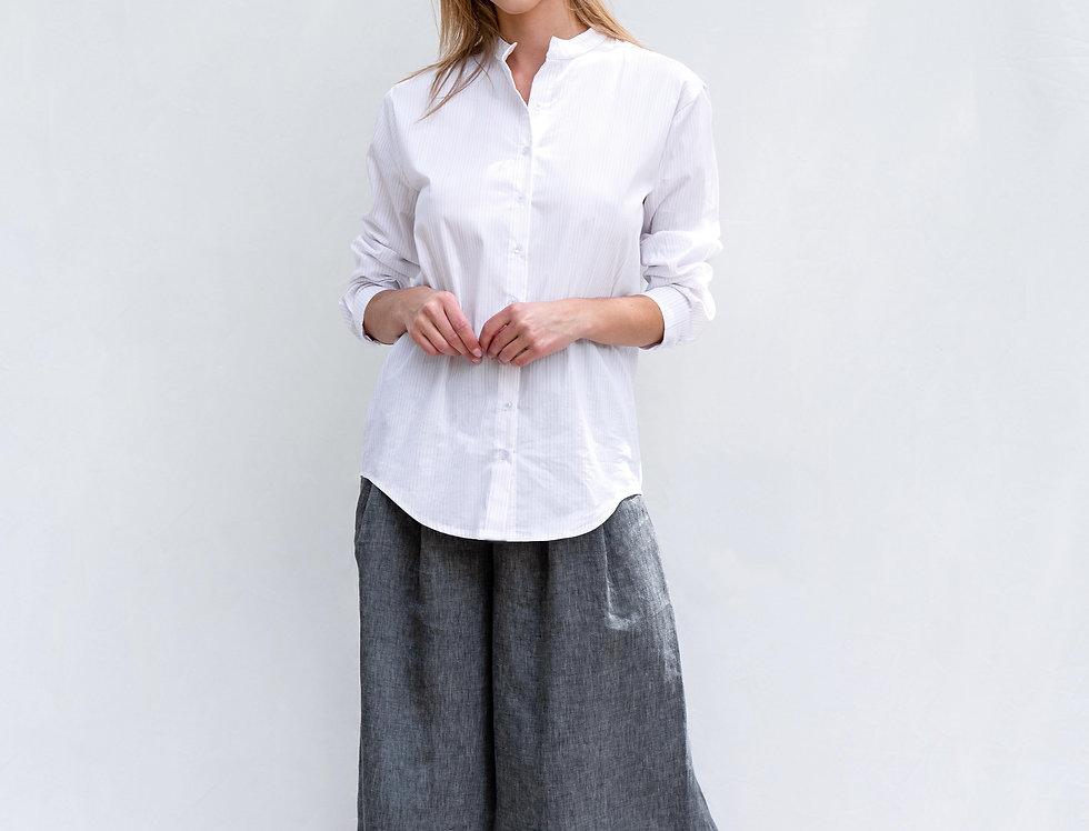 ממכנס חצאית לינן אפור