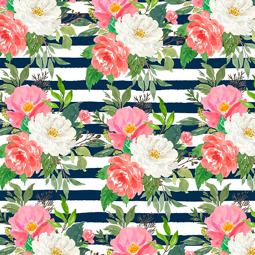 Navy Stripe Floral