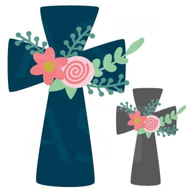 Floral Cross Transfer Sheet (1 Adult/1 Child)