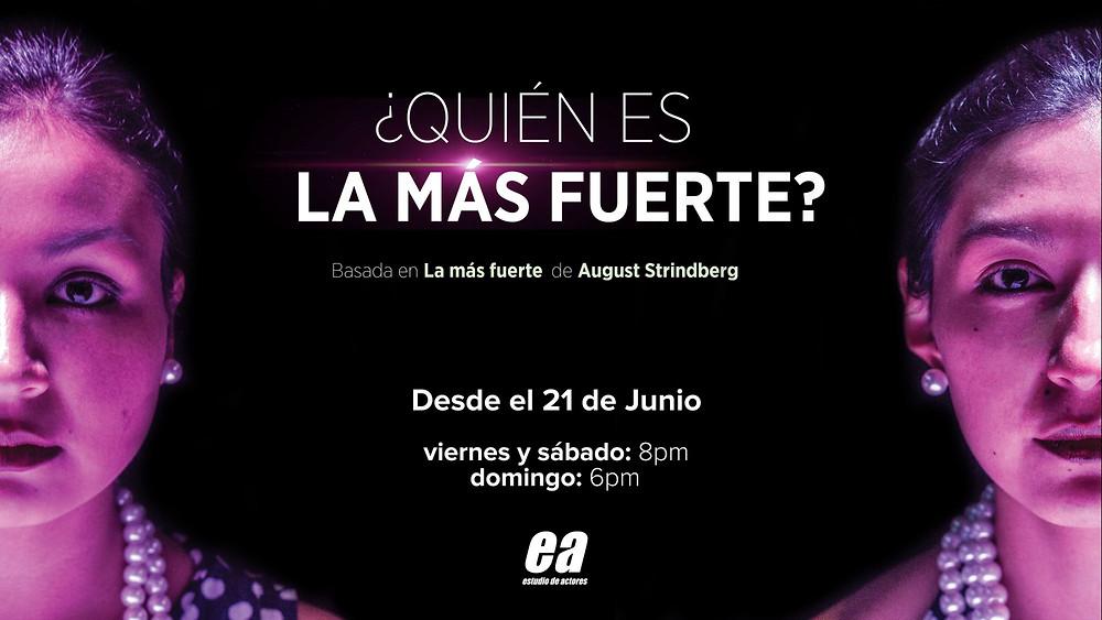 Con Tamia Otálora y Fernanda Cadena, esta adaptación del texto de Strindberg dirigida por Gonzalo Estupiñán.