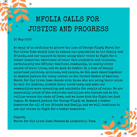WE CALL FOR JUSTICE AND PROGRESS