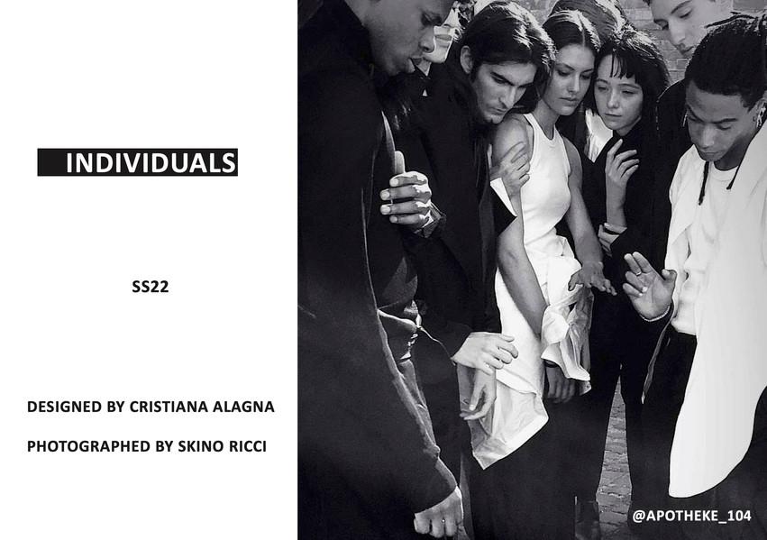 --INDIVIDUALS SS22 BY CRISTIANA ALAGNA L