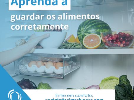 Aprenda a guardar corretamente os seus alimentos