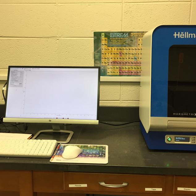 Reva Raman Spectrometer at Immaculata University