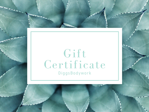 Hour and a Half Massage Gift Certificate