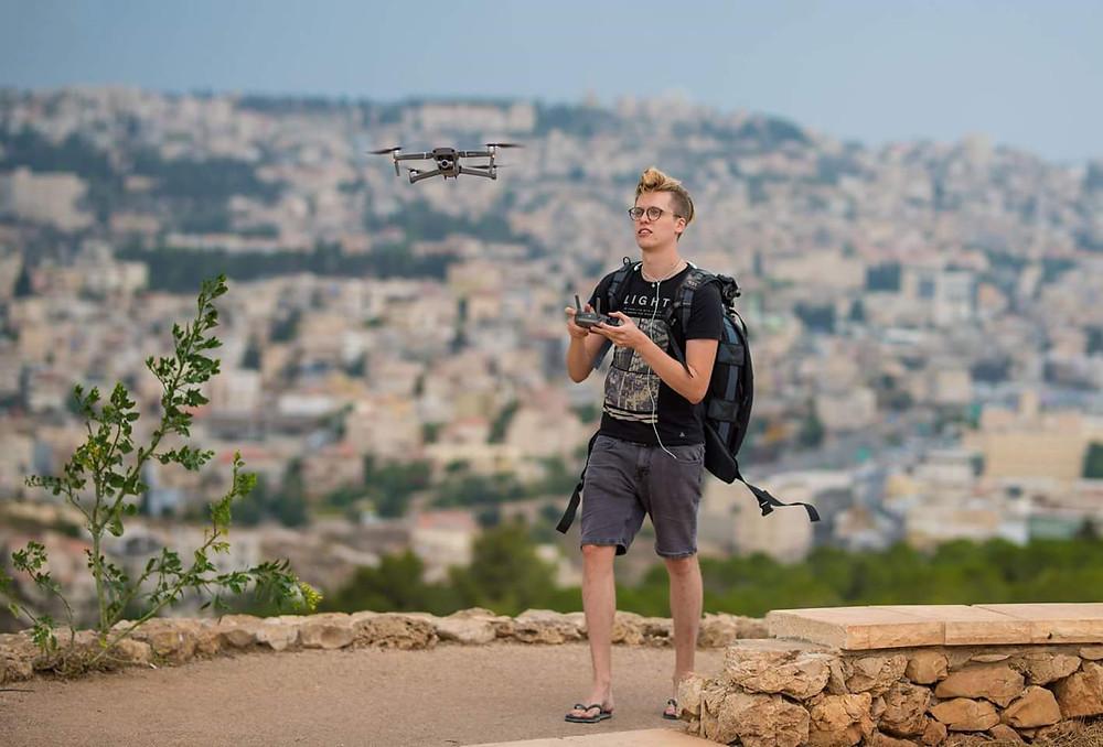 Tom David Frey flying a DJI Mavic 2 Zoom Drone