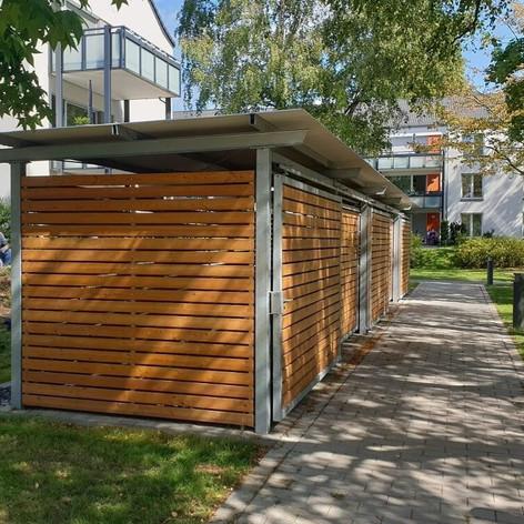 Fahrradhäuser - Mülltonneneinhausungen - Rollatorenboxen
