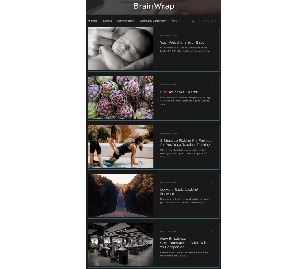 Content Sample: BrainWrap Blog