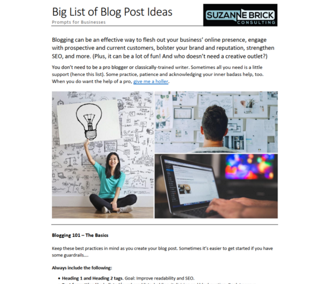 46 Blog Post Ideas for Businesses