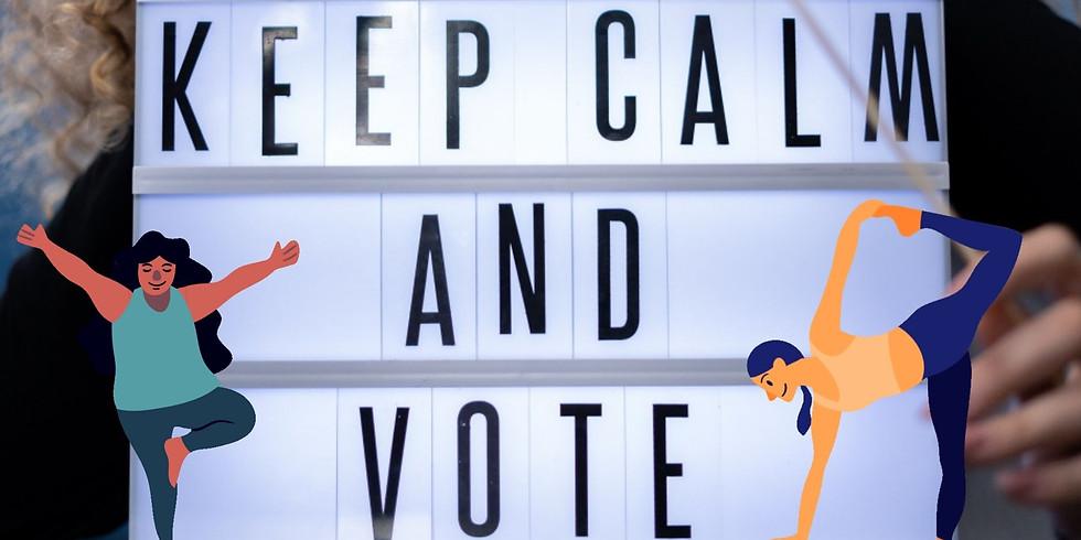Totally Non-Partisan Apolitical Election Day Yoga 💻
