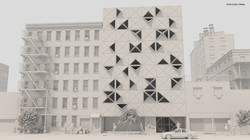 Origami Building Iluminación
