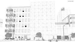 Origami Building render líneas